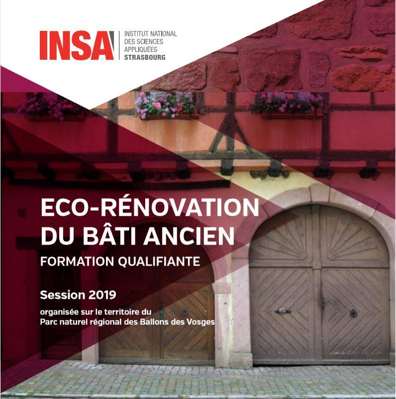 Les formations éco-rénovation du bâti ancien  2019-2020