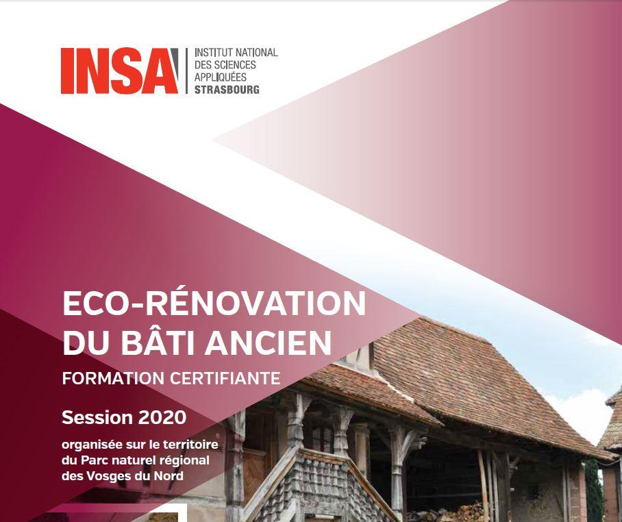 Eco-rénovation du bâti ancien - formation professionnelle