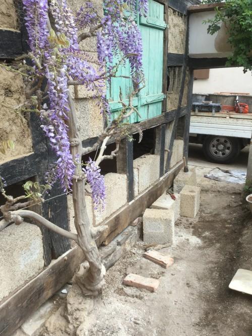 Rénovation de façade à pan de bois