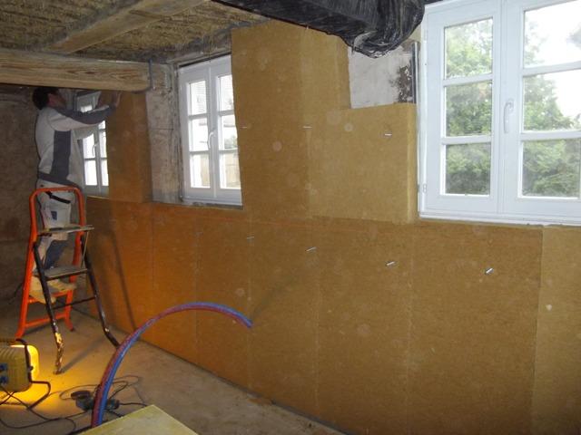 Isolation en panneaux fibre de bois