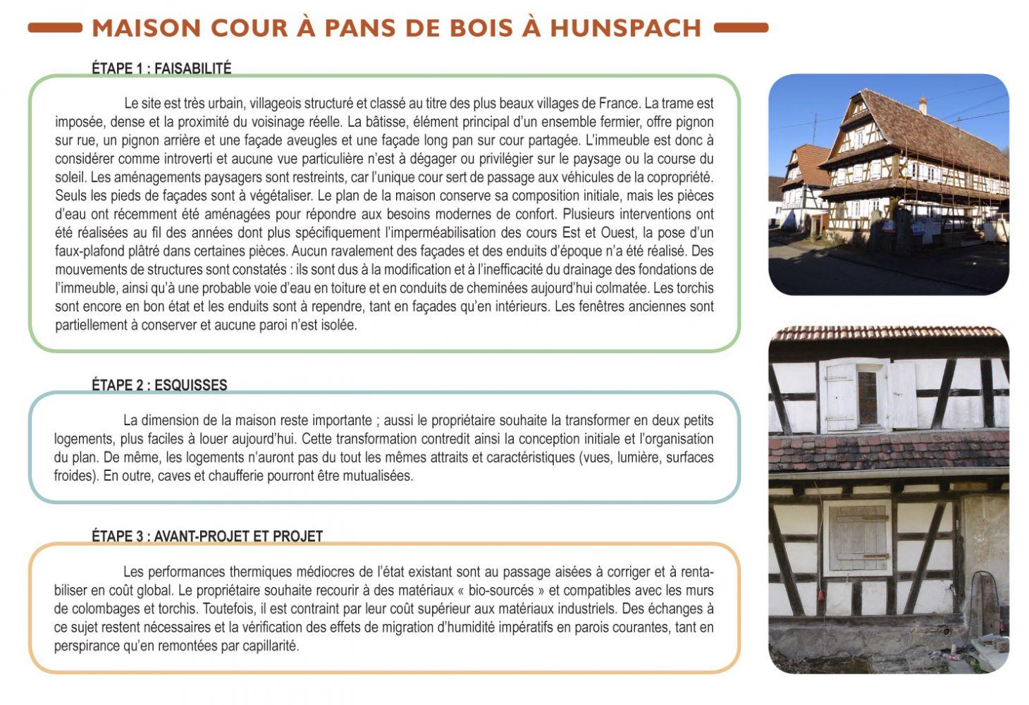 description, état des lieux de la maison à pan de bois de Hunspach