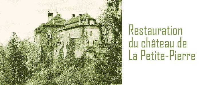 Vue ancienne du château de la Petite Pierre