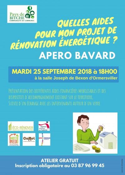 APERO - BAVARD - 25/09 - 18h00 - Ormerswiller
