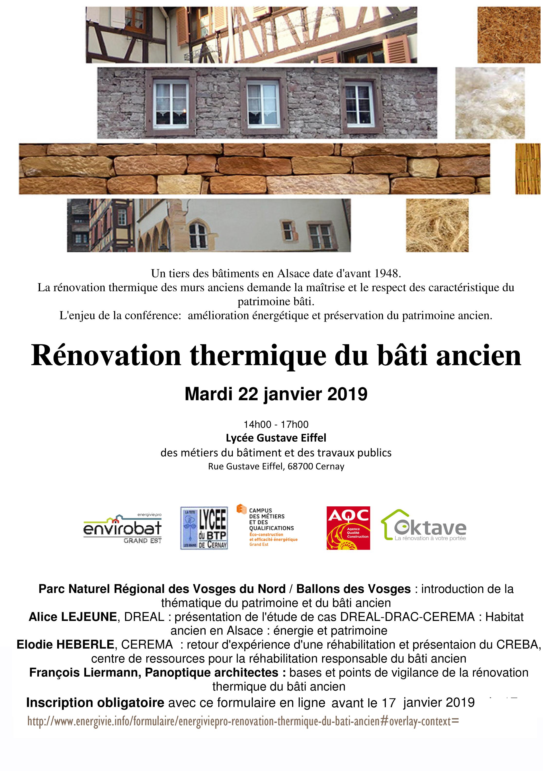 CONFERENCE : Rénovation thermique du bâti ancien