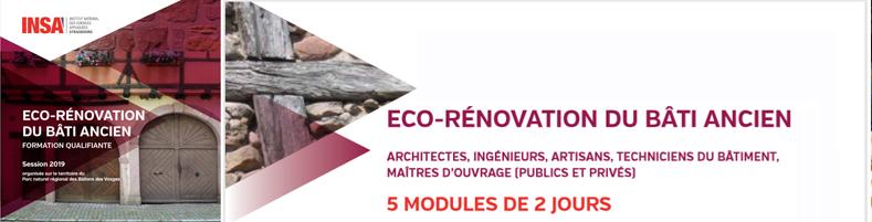 Formation Eco-rénovation du Bâti ancien 2019