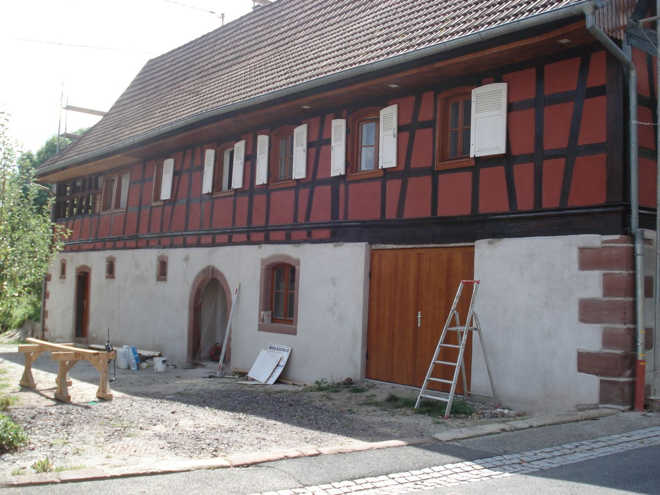Rénovation et transformation en gite d'une grange du 18e siècle