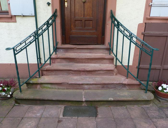 Rénovation d'un escalier en grès bigarré