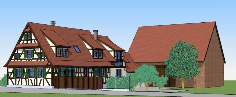 Rénovation d'une maison à pan de bois
