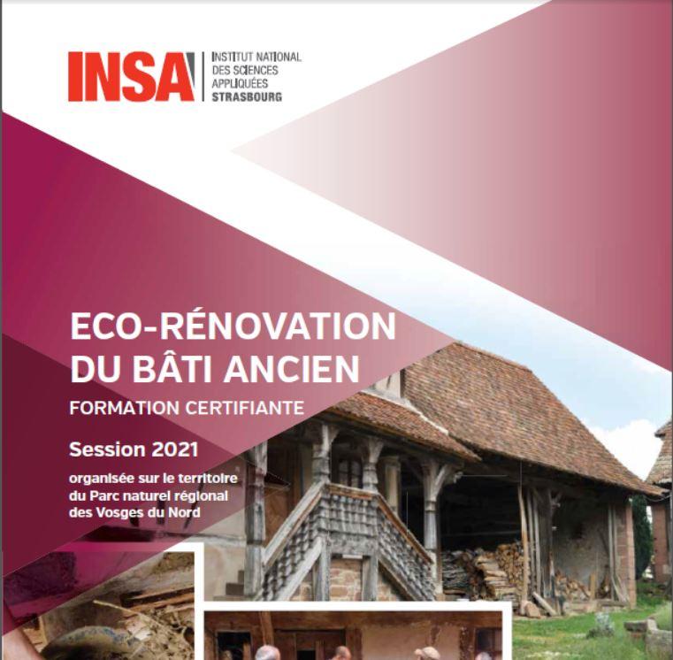 FORMATION : Eco-rénovation du bâti ancien 2021