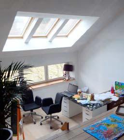 La création de percements En toiture, elle permet d'apporter de la lumière naturelle et au niveau des murs elle offre une ouverture sur le paysage.